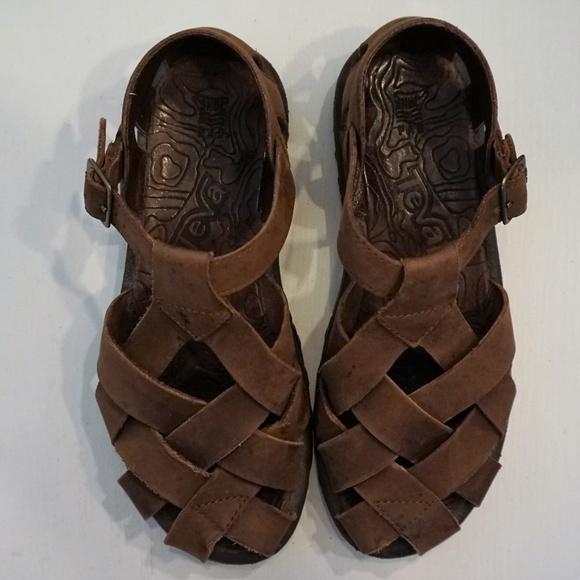 Teva Shoes | Teva 8 Brown Leather Woven